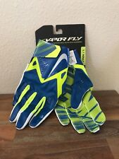 Nike Vapor Fly Football Skill Gloves Hyperfuse Blue/Volt GF0106 470 Adult Sz L