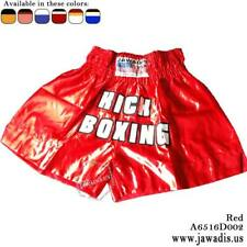 Jawadis Xl Low Waist Red Best Muay Thai Boxing Shorts with Kick Boxing Design