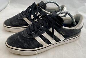 ADIDAS Mens 9 Shoes Dennis Busenitz Black Suede Board Skateboard
