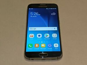Samsung Galaxy S6 SM-G920A 32GB AT&T Wireless Blue Smartphone/Phone *Smashed*