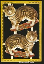 Die Cut Scrap Mamelok English  - Cats with Ribbons (Archives Collection)  A126