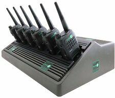 MOTOROLA GP320 UHF 4 WATT WALKIE-TALKIE TWO WAY RADIOS & SPEAKER MICS x 6