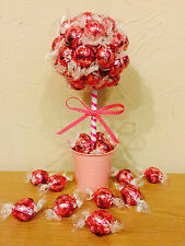 LINDT LINDOR Pink Chocolate Candy Sweet Trees Bouquet Hamper Christmas