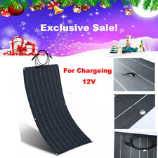 ETFE Flexible Solar Panel 100W 12V Solar Charger for RV/Boat Waterproof US Stock
