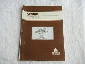 International DVT DVTI-573 series B engine parts catalog manual crawler tractors