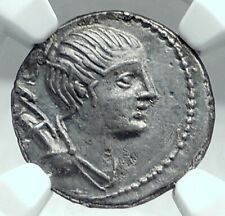 Roman Republic DIANA Artemis & Hound Dog Ancient Silver Coin of Rome NGC i77831