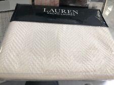 Ralph Lauren Euro Pillow Sham Yasmine Herringbone Cotton Cream 270.00$