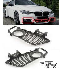 NEW BMW 3 SERIES F30 F31 2011-2015 M SPORT FRONT BUMPER FOG LIGHT GRILL PAIR SET