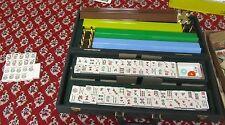 Asian Mah Jong Game Complete Set 144 Tiles Plus 22 Bonus Tiles 4 Racks Snap Case