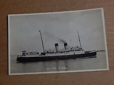 Postcard shipping Steamer S.S Isle of Sark   unposted