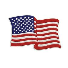 American Flag Waving Embroidered Patch 3.75 x 3 - Patriotic Pride Usa