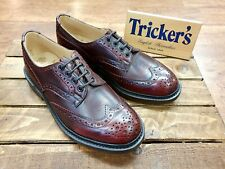 TRICKERS // Bourton Sign Kudu // Mens Oxblood Brogues Shoes.// REDUCED Was £425.