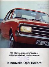 Catalogue brochure prospekt Opel Rekord C français 1967