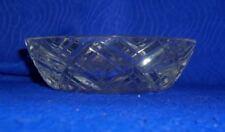 Vintage Chris Cross Basket Weave Clear Cut Glass Ashtray