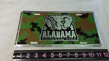 ALABAMA CRIMSON TIDE CAR TRUCK TAG CAMO LICENSE PLATE FOOTBALL ROLL TIDE VANITY