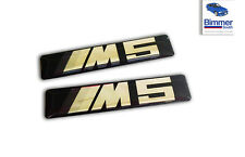 PAIR BMW M5 E60 Wing Fender Grille Emblem Badge Logo Sign 51137898311 BLACK