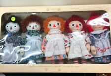 """9"""" Dakin Raggedy Ann Cloth Doll Throughout The Years Set Of 5 Adorable MINT NRFB"""