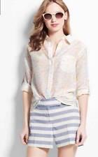 Ann Taylor Top size Small Petite SP Silk Blend Camp Shirt Button Down Front 4-6