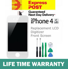 For iPhone 4S Replacement LCD Digitizer Front Screen Assembly Panel Tools White