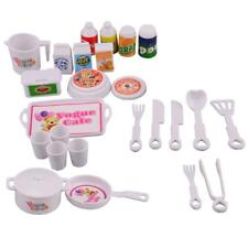 25x Plastic Dinner Set Toys Kid Classic Pretend Play Kitchen Cooking Food Toy LC
