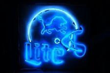 """New Detroit Lions Miller Lite Helmet Beer Bar Neon Sign 20""""x16"""""""