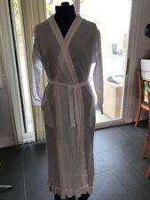 Eileen West 100% Cotton White Robe Full Length - Small/Medium