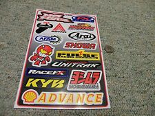 Decals / stickers R/C radio controlled Showa Arai Afam No fear FX Yoshimura M160