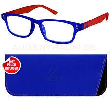 Montana Mr97b Strength Plus 2 Blue/ Orange Two Tone Reading Glasses