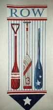 KWC Rowing Oars Nautical Boat HP Hand Painted Needlepoint Canvas