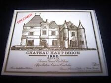 etiquette vin Chateau haut brion 1985 75CL specimen wine label wein etikett