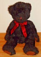 """DICKENS Teddy Bear w/Bow 15"""" RUSS plush"""