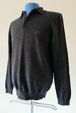 Men's Hugo Boss Jumper Sweater Cardigan Size UK M Grey Wool Long Sleeve
