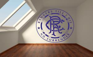 Rangers Till I Die Football Badge Wall Art Sticker Vinyl Decals
