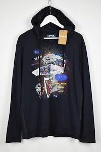 DESIGUAL TS-SERGIO Men's XL Abstract Painting Thin Sweatshirt Hoodie 10857 mm