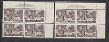 1950 #301 10¢ FUR RESOURCES PLATE BLOCKs  #1 &  #2  F-VFNH