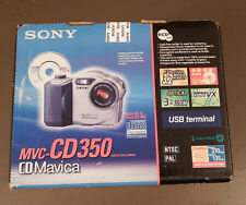 Brand New Factory Sealed Sony Mavica MVC-CD350 3.2MP Digital Camera Black Silver