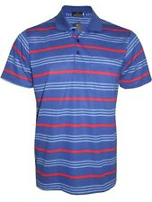 Men's Striped T-shirts Loose Fit Pique Polo Polycotton 1906 Casual Tops M to 5xl Royal Blue 3xl