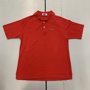 Vintage 90s Lacoste Chemise Red Blue Alligator Logo Golf Polo Shirt Mens Size XL