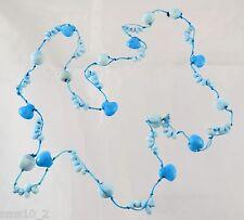 Cool Two Tone Pale Blue Ceramic Strand Necklace CJN347
