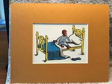 Curious George~Early To Rise & Shine~8 x 10 Mat Print~A Wide Awake Monkey~New