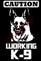 Caution Working Police K9 Dog Vinyl Decal Window Sticker Car
