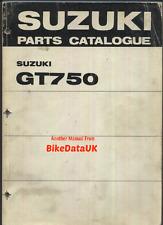 Genuine suzuki GT750 j k (1972-1973) parties list catalogue manuel livre gt 750