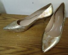 Gold Mirror Me Mt Kenneth Cole Pump 2 Inch Heels Shoes Size 7M 37.5 New