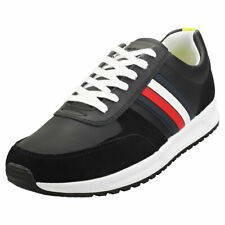 Tommy Hilfiger Modern Corporate Runner Mens Black Casual Trainers