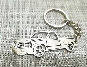 chevy silverado, keychain by your picture, custom gift, personalised keyring