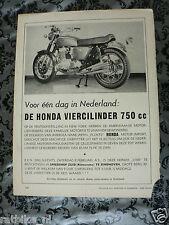 A144-HONDA CB750 FOUR VOOR 1 DAG IN NEDERLAND 1969 ADVERTISEMENT