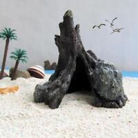 Reptile Hide Hiding Cave Resin Tank Basking Decoration Ornament Fish Turtle s