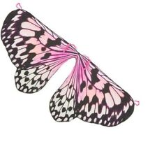 PAPER WINGS Girls Butterfly Wings Pink  Costume Accessory Small Med  Large  NWT