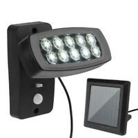 10LED Lampe Solaire Extérieur Projecteur de Jardin Mur Détecteur Mouvement