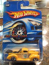 Hot Wheels '40 Ford Truck #142 Yellow rare 5sp